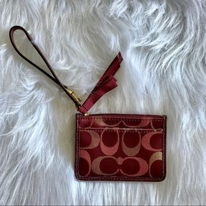 COACH - burgundy card wallet